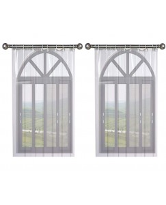 ARADENT™ Set of 2 Pcs 0.15 mm PVC AC Transparent Curtain for Window(Size - 4.5 X 6 Feet)