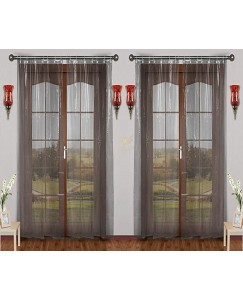 ARADENT™ Set of 2 Pcs 0.15 mm PVC AC Transparent Curtain for Door(Size - 4.5 X 8 Feet)