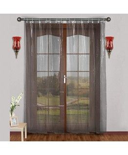 ARADENT™ 0.15 mm PVC AC Transparent Curtain for Long Door(Size - 4.5 X 9 Feet)
