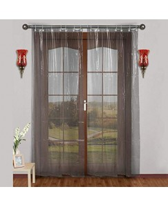 ARADENT™ 0.30 mm PVC AC Transparent Curtain for Long Door(Size - 4.5 X 9 Feet)
