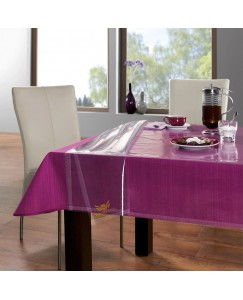 ARADENT™ 0.20mm Transparent Dining Table Cover Suitable for 6 Seater (Size: 54X78 Inches)
