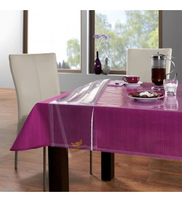 ARADENT™ 0.20mm Transparent Dining Table Cover Suitable for 8 Seater (Size: 60X90 Inches)