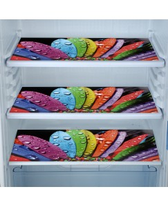 ARADENT™ Multipurpose Refrigerator Mats Set of 3 Pcs for Single Door Fridge (Size: 12X17 Inches, Color : Multicolor)