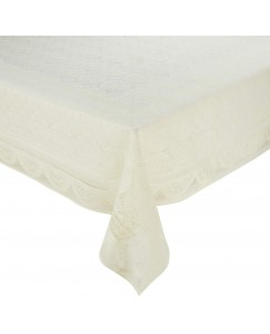 ARADENT™ Floral Cotton Net 4 Seater Table Cover (Size : 40x60 Inches, Color : Beige)