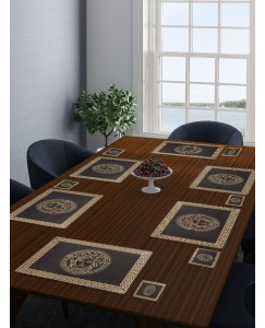 ARADENT™ High Quality PVC Table Placemats Set of 12 Pcs for Hotel, Restaurants and Home(6 Placemats + 6 Coasters)