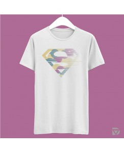 Desirevalley Superman Half Sleeve White T-Shirt