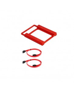 """Xbolt 2.5"""" To 3.5"""" Ssd Hdd Plastic Mounting Kit Bracket With Straight Sata Iii Data Cable"""