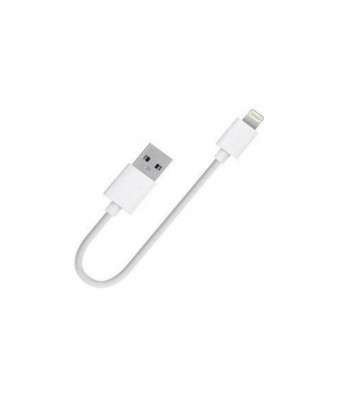 XBOLT 10.5 cm Sync and Charge USB To 0.3 m Lightning Cable  (Compatible with IPhone, Mobile, Power Bank, White, One Cable)