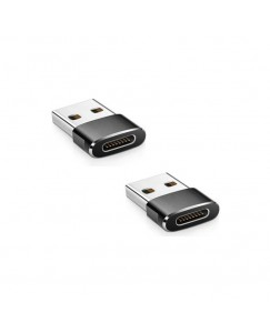 XBOLT Set of 2 USB 3.1 Type C Female TO USB 3.0 Type A Male Port Adapter USB Adapter  (Black)