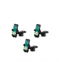 XBOLT Set of 3 Dashboard Car Phone Holder Car Mount Universal Cradle Adjustable Mobile Holder