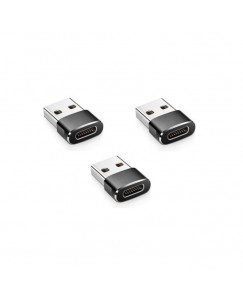 XBOLT Set of 3 USB 3.1 Type C Female TO USB 3.0 Type A Male Port Adapte USB Adapter(Black)