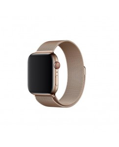 XBOLT Loop Strap Stainless Steel Milanese with Magnetic Lock Buckle design for iWatch Series 3 4 5 ( 42mm ) Smart Watch Strap  (Gold)