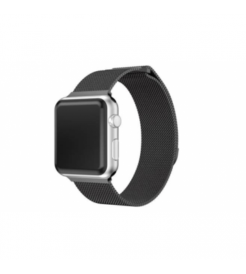 XBOLT Stainless Steel Milanese Band Strap Wristband Bracelet Magnetic Strap for I Watch 44mm Breathable Strap for Apple Watch Series 3, 4 , 5 ,6. Smart Watch Strap (Black) Smart Watch Strap(Black)