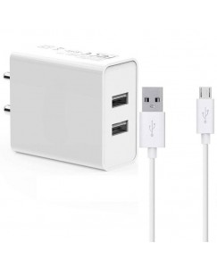 Y M Enterprises Duall Ultra-Powerful Usb Charger White