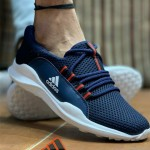 Men Woven Design Running Shoes (Blue)..