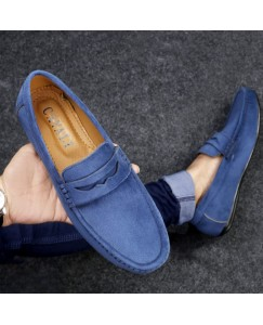 Casuals, Party Wear Loafers For Men (Blue)
