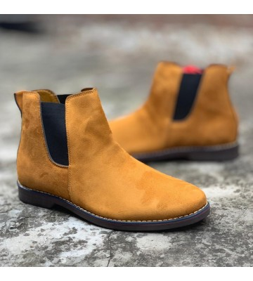 Casuals, Party Wear CHLBOOT For Men (Mustard yellow)