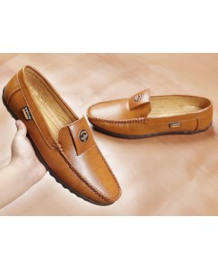 Casuals, Party Wear Loafers For Men (Tan)