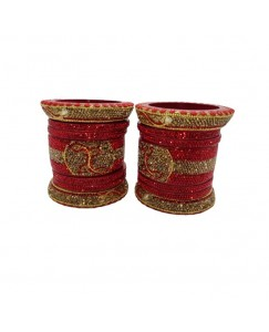 Lucky Bangle Jewellery Rajsthani Bridal (Dulhan) Bangles Set For Women Red