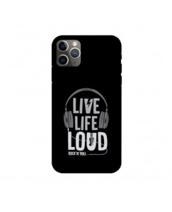 Printyourthinks   LIVE LIFE LOUD ROCK N ROLL  APPLE IPHONE 11 PRO Mobile Cover