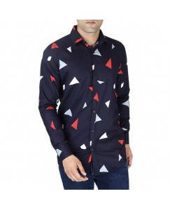 Abstract Printed Shirt For Men's