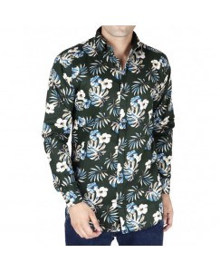Floral Printed Shirt For Men's (Green)