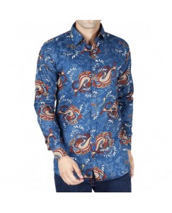 Jodhpuri Printed Shirt For Men's (Blue)