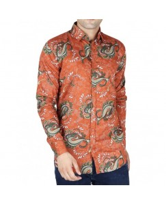 Jodhpuri Printed Shirt For Men's (Kesari)