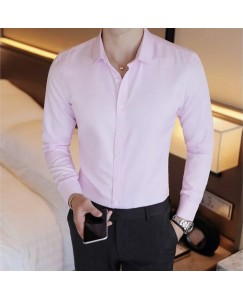 Solid Shirt For Men's (Baby Pink)