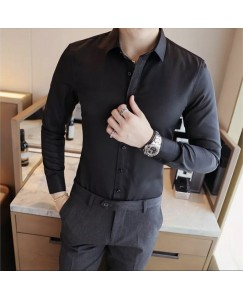 Solid Shirt For Men's (Black)