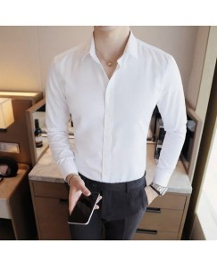 Solid Shirt For Men's (White)