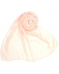 Stole For Women - Fabric - Crush Cotton Fabric -  Diamond Studed Crush Stole - Pink - Size - 75/185 CM