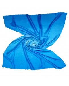 Stole For Women - Fabric - Cotton Fabric - Double Shaded  Glitter Stole - Blue - Size - 75/185 CM