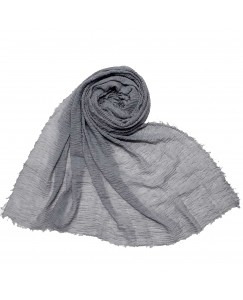 Stole For Women - Fabric - Breathable  Cotton - Plain Soft Cotton Hijab -  Grey - Size - 75/185 CM