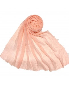 Stole For Women - Breathable Cotton - Plain Soft Cotton Hijab - Orange - Size - 75/185 CM