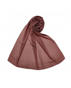 Stole For Women - Fabric - Chiffon - Plain Chiffon Hijab -Purple - Size - 75/185 CM