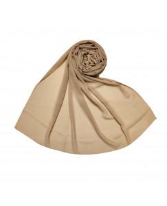 Stole For Women - Fabric - Chiffon - Plain Chiffon Hijab -Brown - Size - 75/185 CM