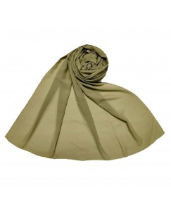 Stole For Women - Fabric - Chiffon - Plain Chiffon Hijab -Green - Size - 75/185 CM