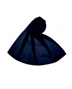 Stole For Women - Fabric - Chiffon - Plain Chiffon Hijab -Blue - Size - 75/185 CM