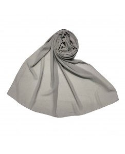 Stole For Women - Fabric - Chiffon - Plain Chiffon Hijab -Grey - Size - 75/185 CM