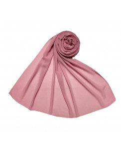 Stole For Women - Fabric - Chiffon - Plain Chiffon Hijab -Pink - Size - 75/185 CM