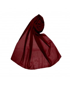 Stole For Women - Fabric - Chiffon - Plain Chiffon Hijab -Maroon - Size - 75/185 CM