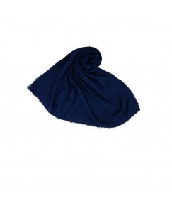 Stole For Women - Quality Cotton Imported Fabric - Plain Cotton Hijab -Blue - Size - 75/185 CM