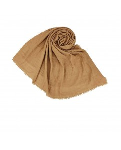 Stole For Women - Quality Cotton Imported Fabric - Plain Cotton Hijab -Brown - Size - 75/185 CM