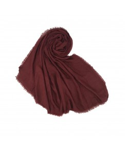 Stole For Women - Quality Cotton Imported Fabric - Plain Cotton Hijab -Maroon - Size - 75/185 CM