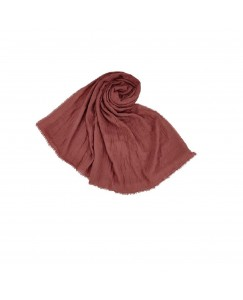 Stole For Women - Quality Cotton Imported Fabric - Plain Cotton Hijab -Purple - Size - 75/185 CM