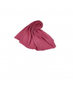 Stole For Women - Quality Cotton Imported Fabric - Plain Cotton Hijab -Pink - Size - 75/185 CM