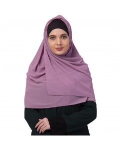 Stole For Women -   Chiffon Fabric - Best For All Season's - Hijabs That Don't Slip -  Plain Chiffon Hijab - Purple - Size - 75/185 CM