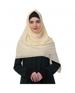 Stole For Women -   Chiffon Fabric - Best For All Season's - Hijabs That Don't Slip -  Plain Chiffon Hijab - Yellow - Size - 75/185 CM