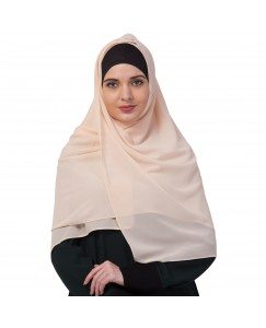 Stole For Women -   Chiffon Fabric - Best For All Season's - Hijabs That Don't Slip -  Plain Chiffon Hijab - White - Size - 75/185 CM